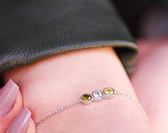 Birthstone Bracelet, Mother's bracelet, Birthstone Jewelry For Mom, Birthstone Bracelet For Mom, Family Bracelet, Grandma Bracelet, Mom Gift