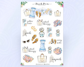 Vacation Shopping Fashion Planner Stickers
