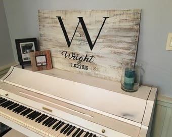 Rustic Last name Sign personalized customized