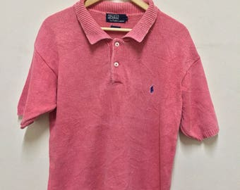 Vintage Polo Ralph Lauren Knitwear Short Sleeves Small Pony