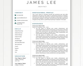 Professional Resume Template, Resume Template Instant Download, Free Resume  Template, Resumes, Cover