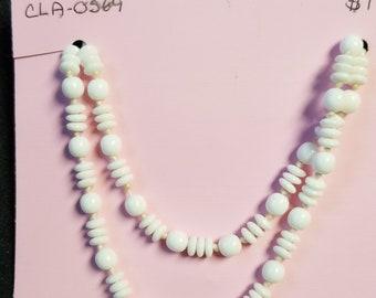 1950's glass milk beads