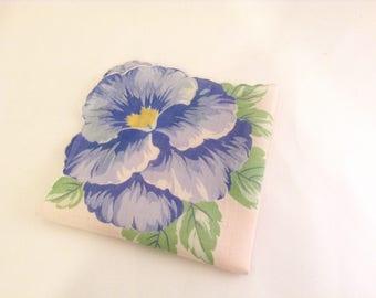 Hibiscus Tropical Vintage Handkerchief