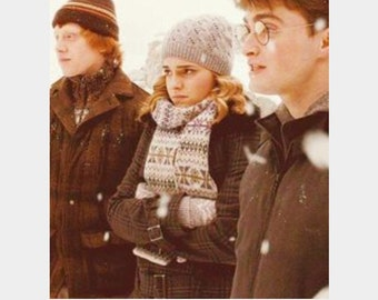 Hermione hat knitting pattern download from Harry Potter and the Half Blood Prince