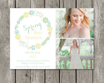 Spring/Summer Mini Session Template - Marketing Board for Photographers - MS01