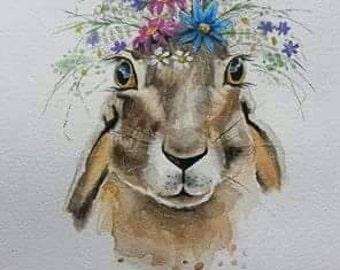 Flower hare print.