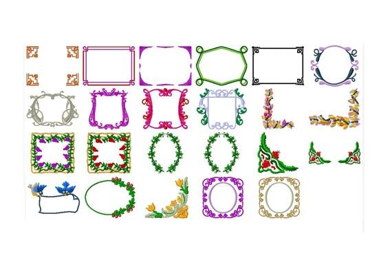 23 Borders & Frames Machine Embroidery Designs Applique
