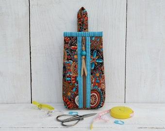 Mini zipper pouch Craft notions storage Stitch marker case Sewing supplies organizer Scissors cover Little bag purse Hooks or needles case