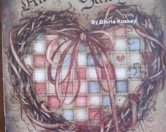 "Folk Art Decorative painting book "" Americana Sampler"" Gloria Koskey MDA by 48 pages 1986 used book"