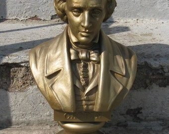 chopin piano statue belwin 1968 16 inches tall mid century kitsch