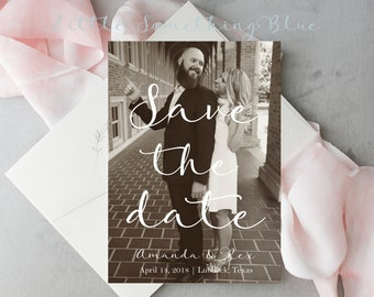 Save the Date // Wedding Save the Date // Photo Save the Date // Printable Save the Date // 5x7 // Digital // Printable