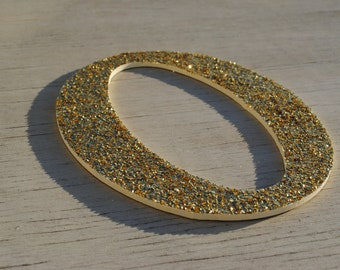 """9"""" Decorative Gold & Cream Glitter Wall Decor Letters"""