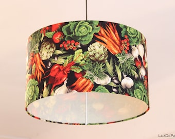 Pendant lamp: VEGETABLES - ¡Cabbage, carrots, garlics, tomatoes and onions!