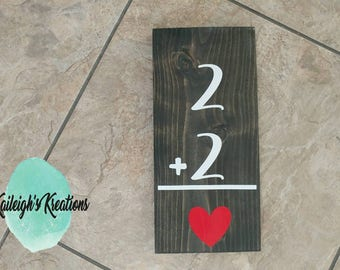Family Flash Card Wood Signs
