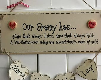 Personalised wooden grandparent gift
