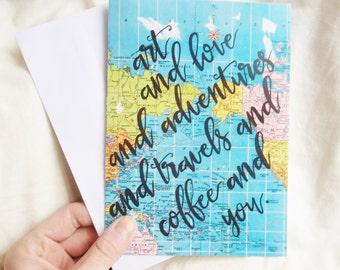 CARD - Art / Love / Adventures / You
