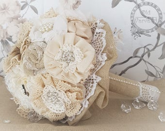 Rustic Wedding Bridal Bouquet; READY TO POST