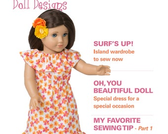 "Too Cute Doll Designs SUMMER 2017 - Sewing patterns for 18"" dolls"