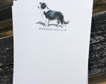 Border Collie Dog Note Card Set