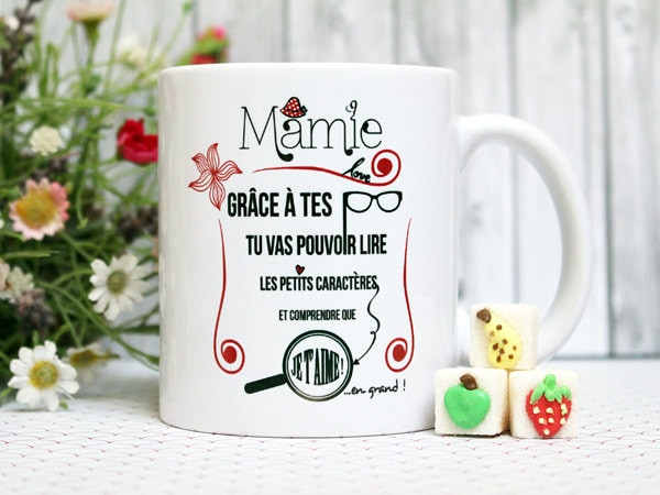 mug mamie tasse personnalisable cadeau pour. Black Bedroom Furniture Sets. Home Design Ideas
