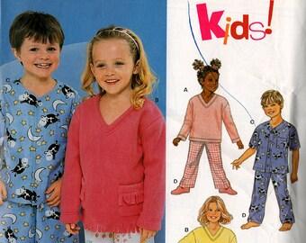 Uncut KIDS' 2-Piece PAJAMAS PATTERN New Look #6131 Size 3-8 Summer/Winter PJs Boys Girls Sleepwear Sewing