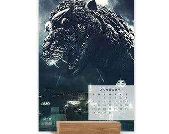 MyKaiju Godzilla Poster 2018 12-Month Easel Calendar
