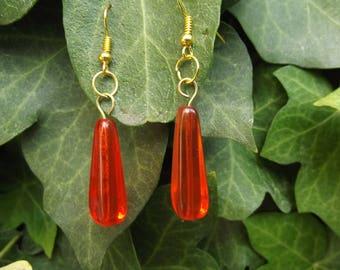 beautiful orange earrings glass