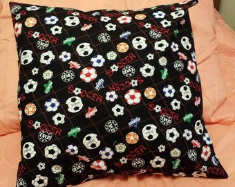 Soccor pillow Removable Cover Sham Travel Home decor Toddler Pet Bedroom