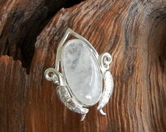 Elven Moonstone Large Leafy Ring