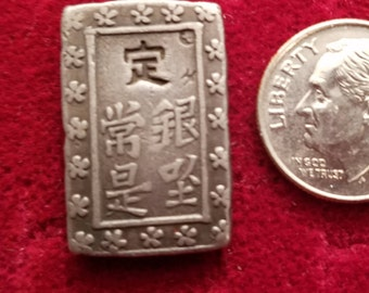 Silver coin, Japan 2 Shu (.432 Ag)