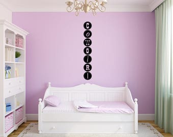 Cowgirl Decal Nursery, Children, Wall Decal - Great For Home, Bedroom and Living Room Decor