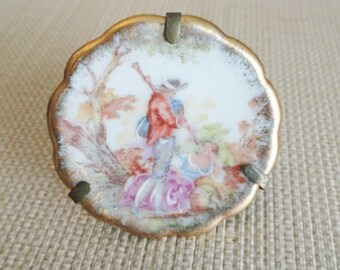 D355)  Antique Miniature Limoges Plate made in France