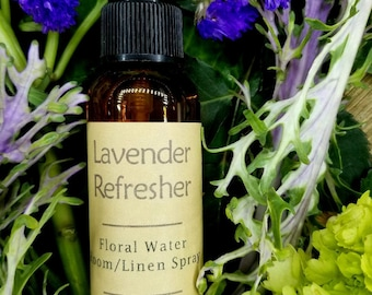 Air Refresher - Lavender - Floral Water Room and Linen Spray - 99% Natural - Bedding - Vehicle - Closet - Bathroom - Mist - Freshener