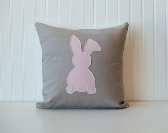 Soft pink Easter bunny pillow cover,  Nursery pillow, Baby Pillow, Decorative pillow, Home & Living, Home Decor
