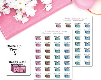 Micro Printed Sticker Sheet - Happy Mail Package Stickers - Style 040M