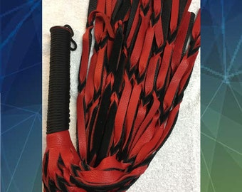 Red & Black Braided Flogger