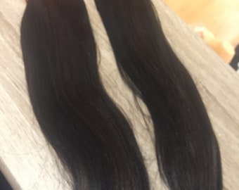 "Soft N Silky. 14"" hair extensions. Colour 1b/33 x2 packs. WEAVING HAIR EXTENSIONS"