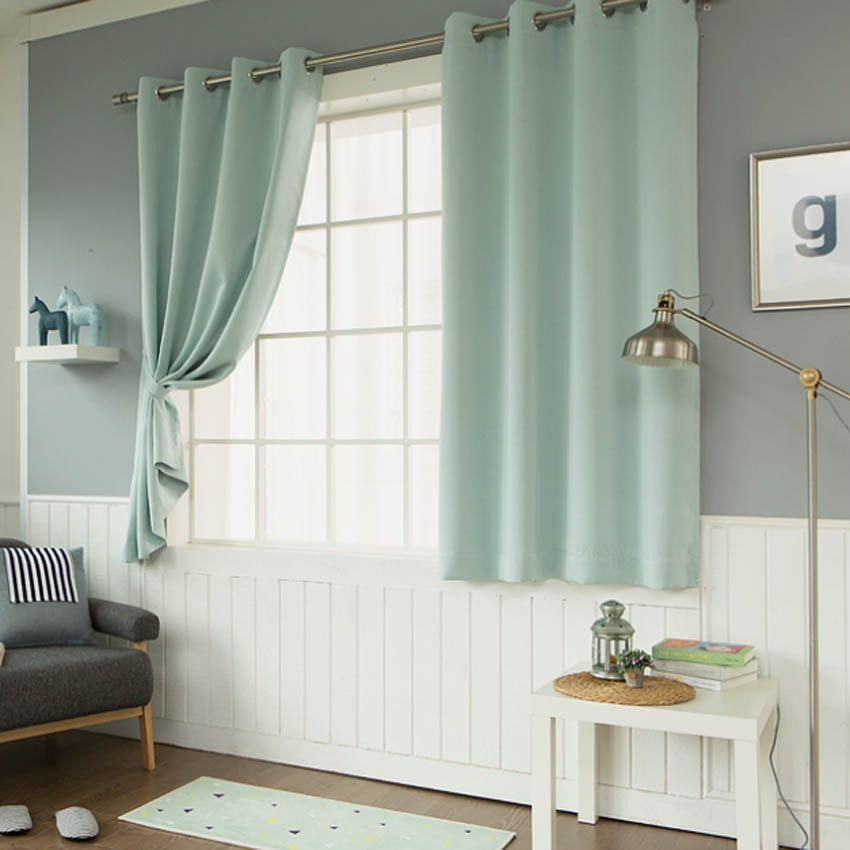 Mint Solid Blackout Curtains Grommet