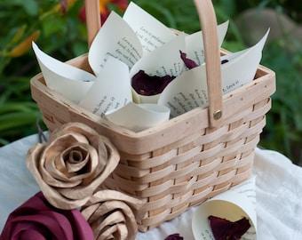 Wedding Petal Toss Cones Love Chapter Scripture