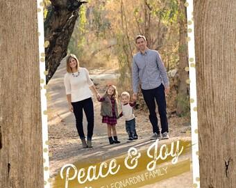 Confetti Holiday Photo Card- Digital
