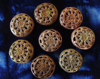 8 beads African brass BB25