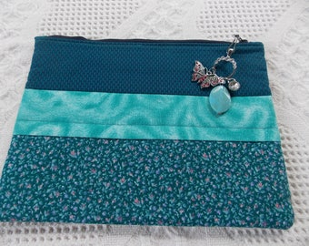 Zipper Clutch With Jewel Charms