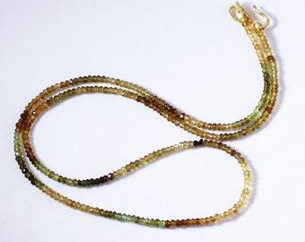 Tourmaline Necklace Ombré Necklace Multi Color Necklace Gemstone Necklace Real Tourmaline Necklace GEM-N-138-T