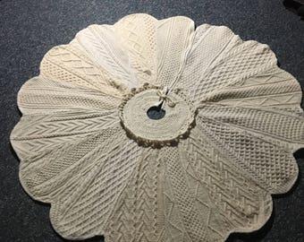 Extra Large Irish Wool Cabled Treeskirt