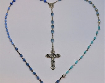 Marian Apparition Rosary - Blue Rosary BL0047