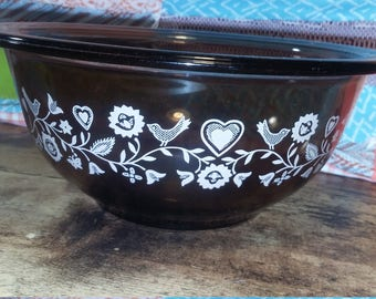 Pyrex 322 mixing bowl amber forever yours
