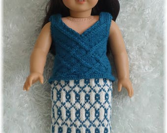 American Girl - Cabled Tank Top and Skirt (knitting pattern)