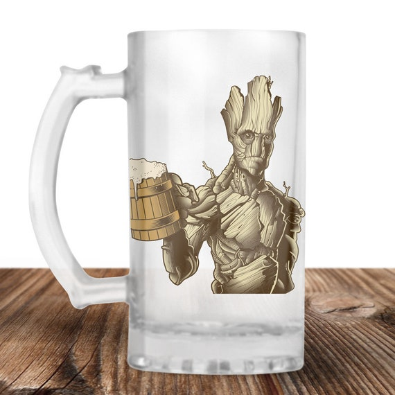 Groot! Groot from Guardians of the Galaxy Craft Beer Mug -Groots Oak Aged Ale Beer -Guardians of the Galaxy-Beer Lover Gift -Beer Lover Gift