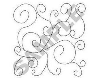Quilt Swirls - Machine Embroidery Design