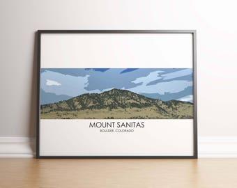 Mt Sanitas Art Print - Mount Sanitas Poster Mt Sanitas Boulder Colorado